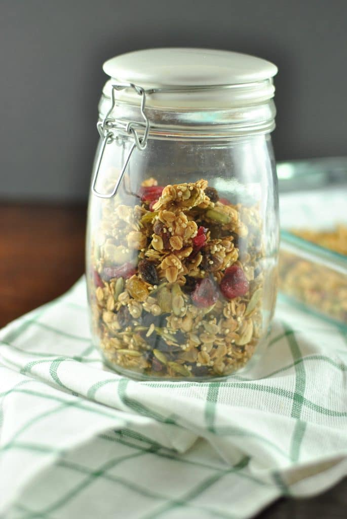 Quinoa Oat Nut and Fruit Granola