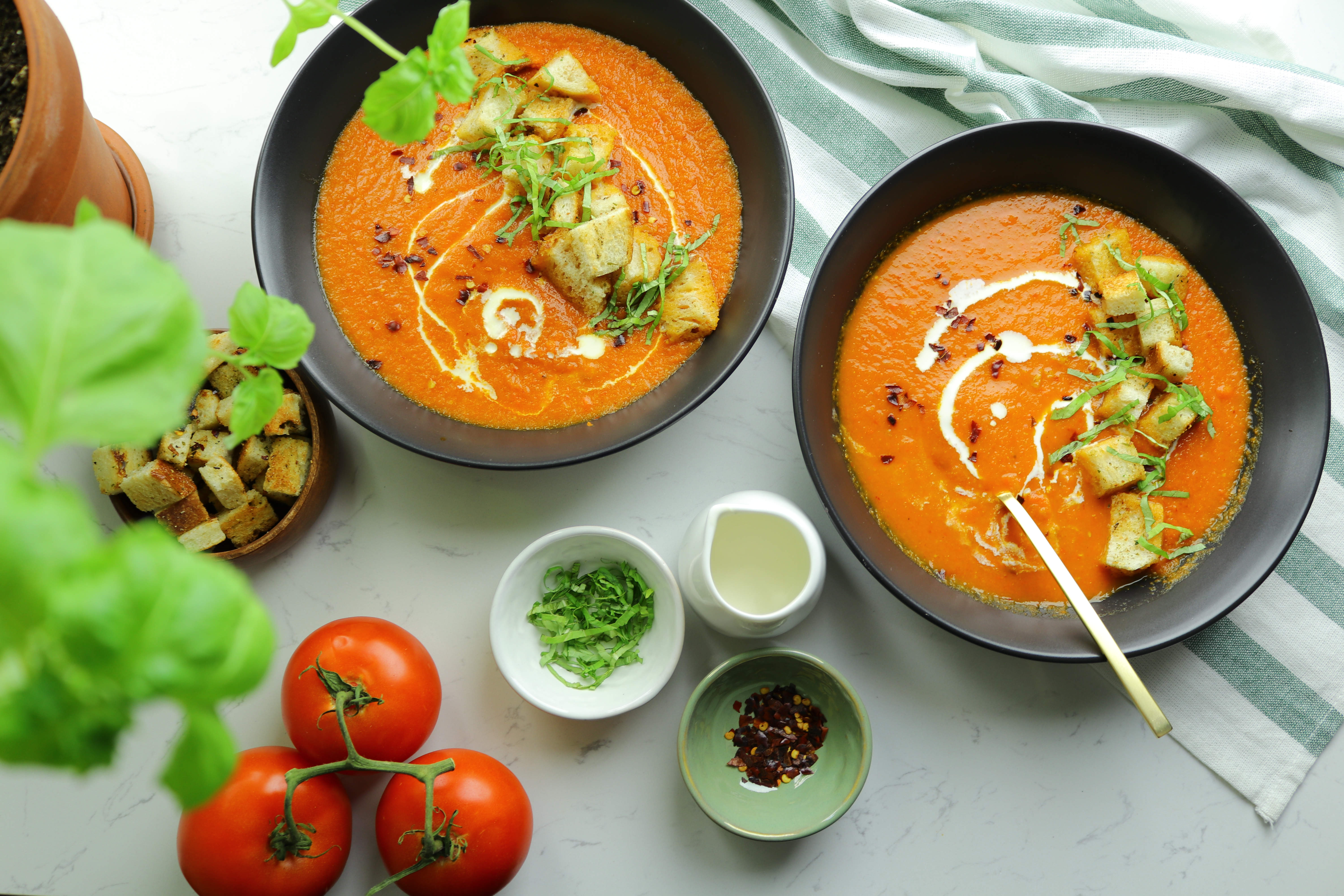 Roasted carrot and tomato soup