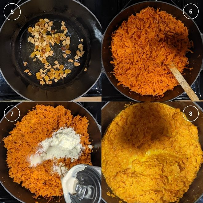 Carrot halwa step by step instructions