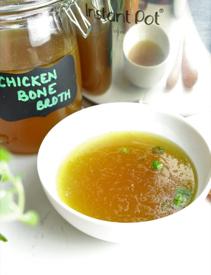 Chicken bone broth (4 different ways!)