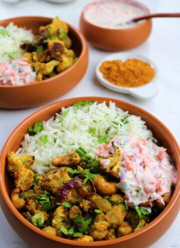 Curry roasted cauliflower recipe