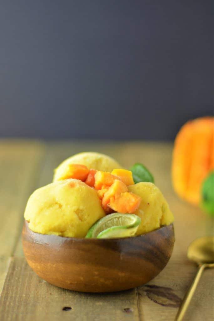 Mango pineapple coconut healthy ice cream
