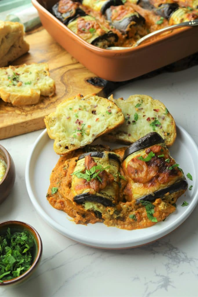 Makhani Eggplant Rollatini