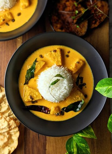 Pineapple coconut curry (Kerala pineapple pulissery) 20