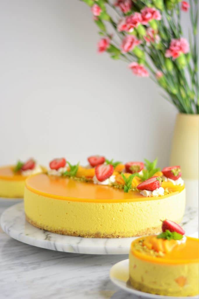 The ultimate mango cheesecake