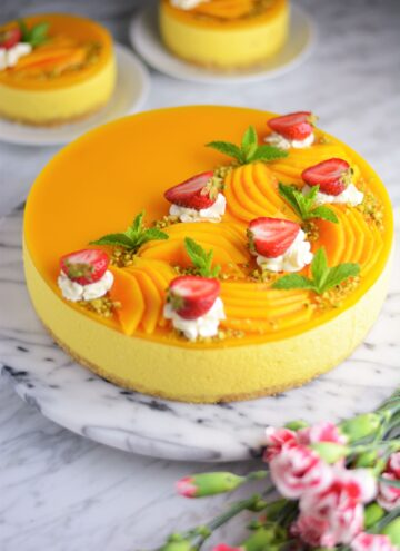 The ULTIMATE no bake mango cheesecake 1