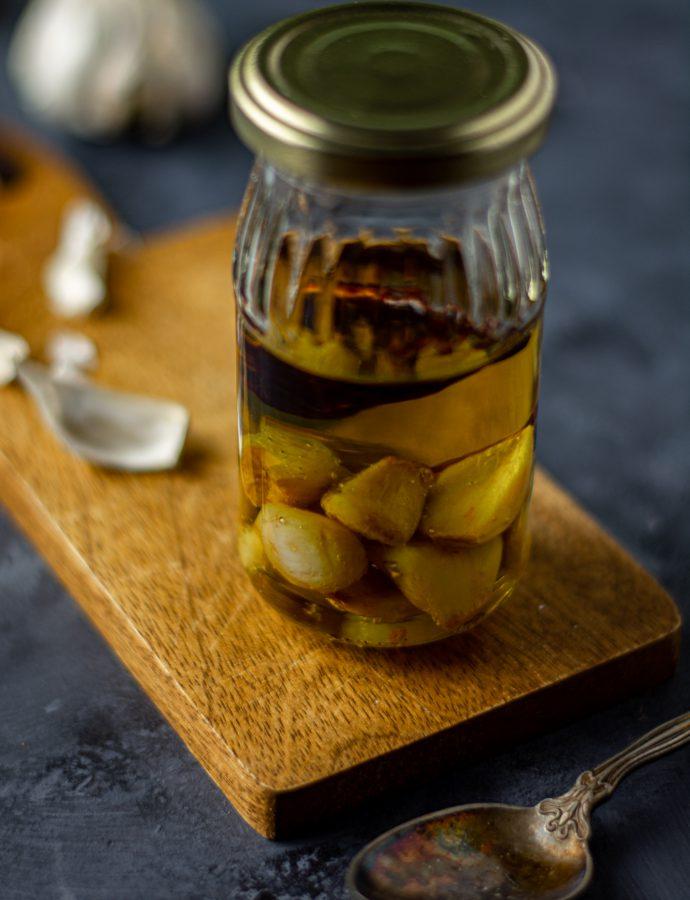 Garlic confit & homemade garlic oil