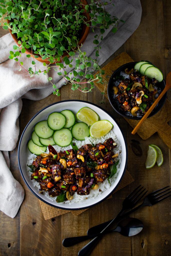 Tamarind tofu ghee roast