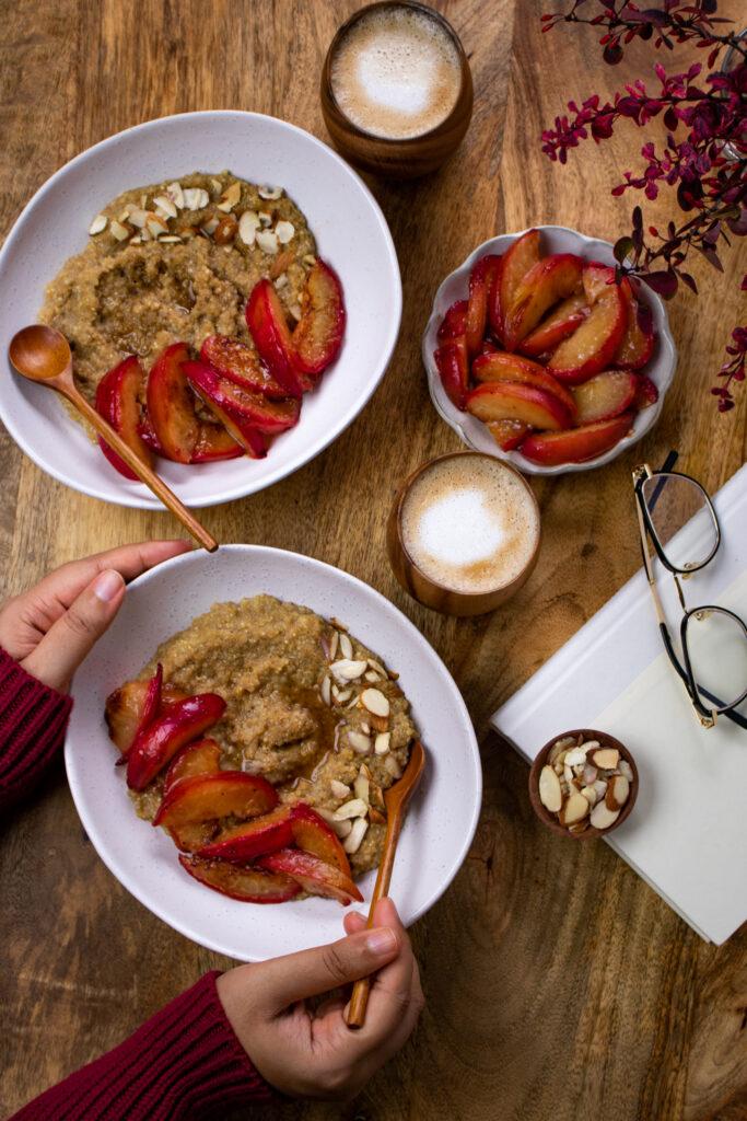 Amaranth Quinoa Breakfast Bowl