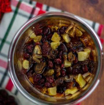 Rum soaked fruits for Christmas cake