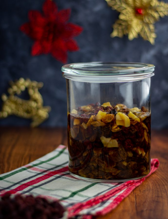 Rum soaked fruits (Christmas fruit cake Part 1)