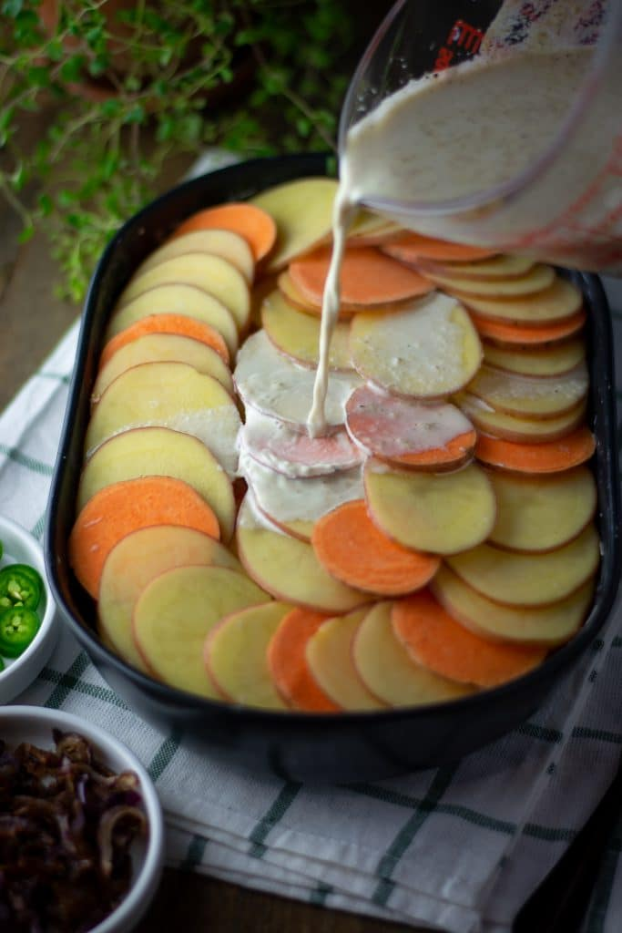 spicy Indian potato gratin
