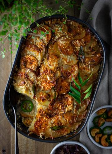 Spicy Indian potato gratin 16