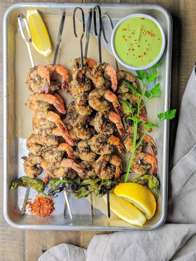 zaatar grilled shrimp