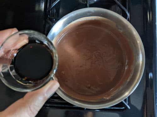 Boozy chocolate pudding step 4
