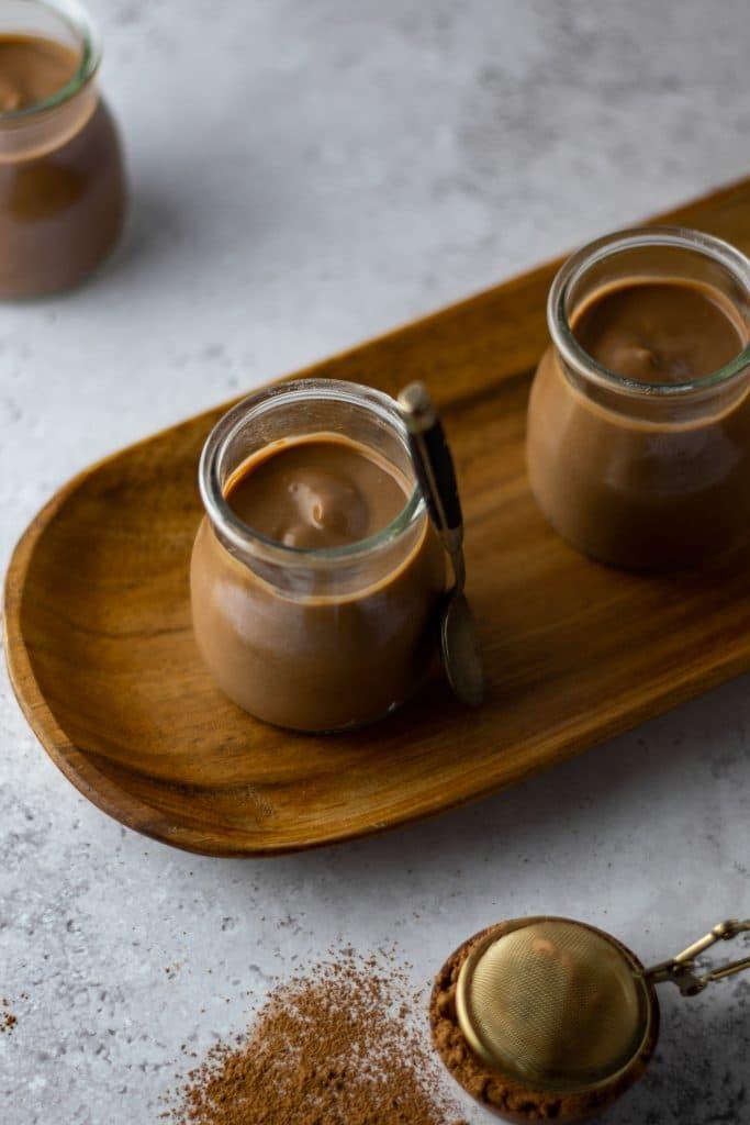 boozy coffee and chocolate pudding
