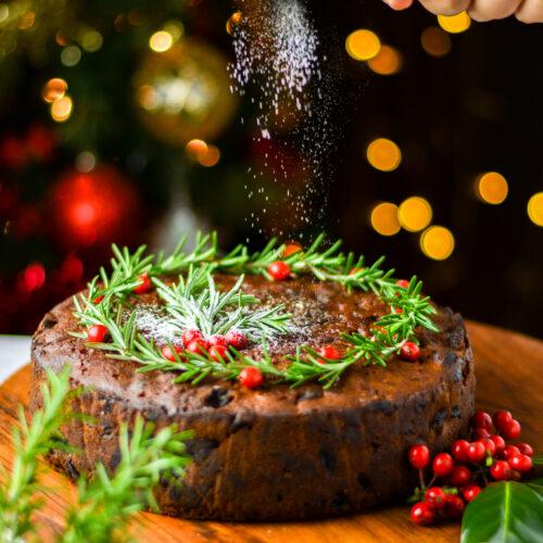 Christmas rum & fruit cake