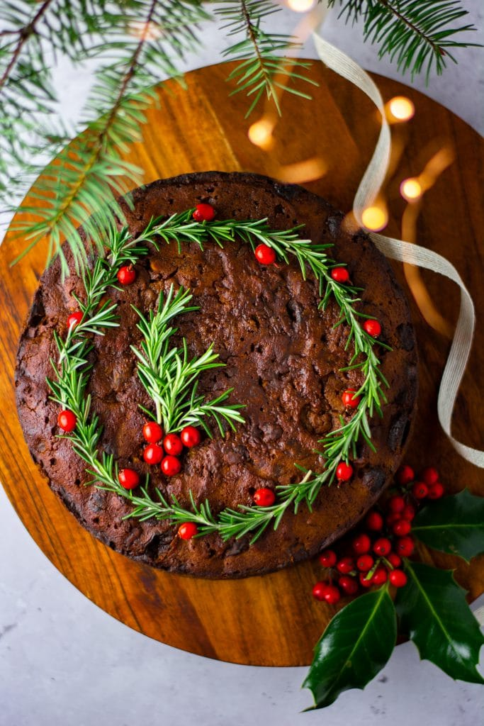 Christmas rum & fruit cake