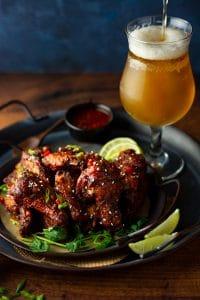Korean gochujang chicken wings