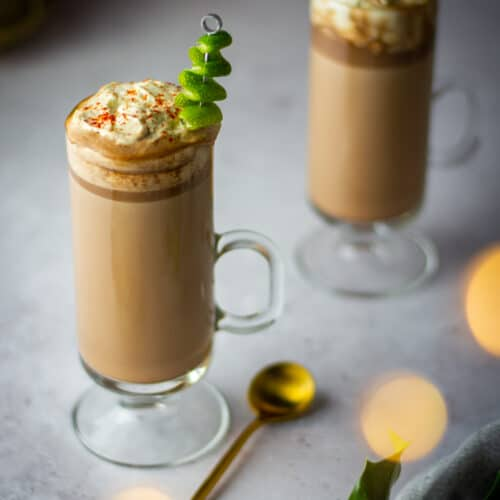 Spiked chili lime hot chocolate