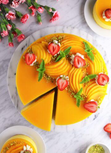 Mango cheesecake web story