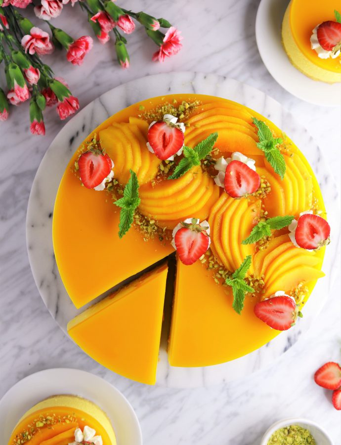 The best no bake mango cheesecake