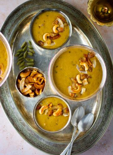 Vegan moong dal payasam (mung bean pudding) 15