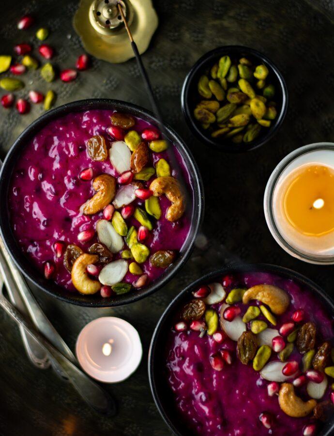 Instant pot vegan beet & rice pudding