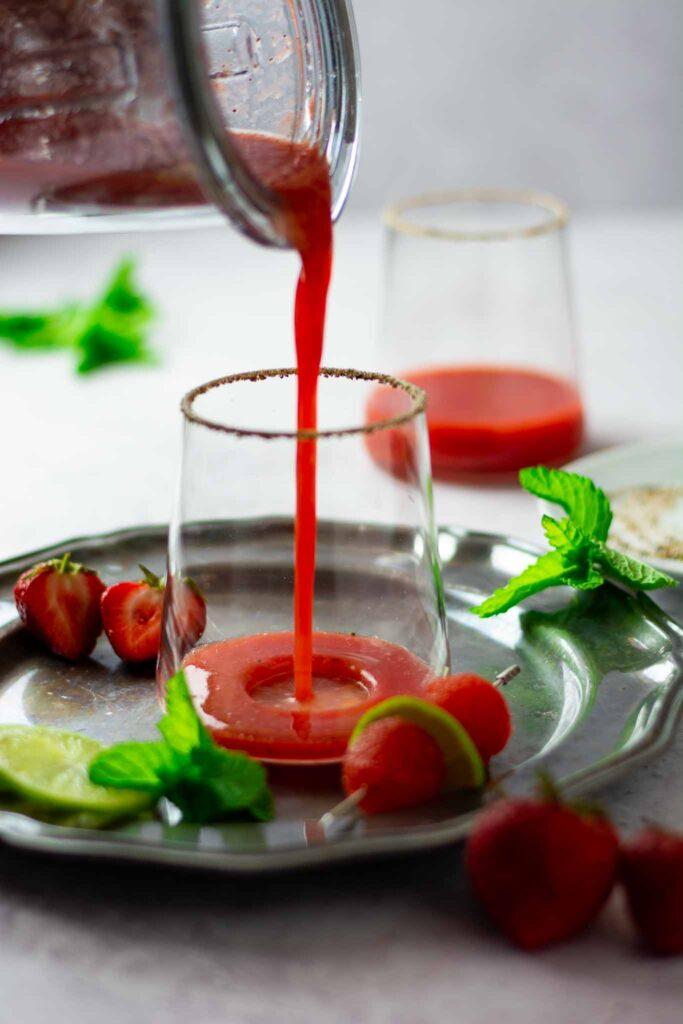 Strawberry watermelon margarita