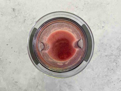 Puree the fruit mix